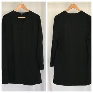 Madewell polyester crepe shift dress. Size (XL).